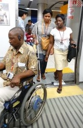 Trainees from Zimbabwe experienced directly an accessible train.