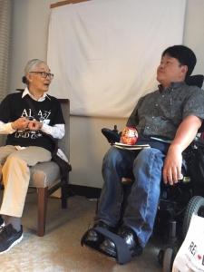 ヨシコダートさんと佐藤聡事務局長