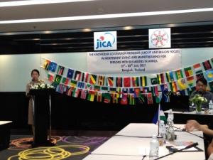 タイ社会開発・人間安全省 障害者エンパワメント局職員のスピーチ