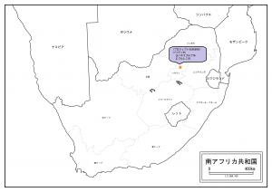 南アフリカの地図