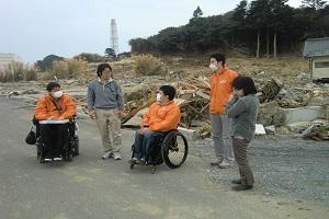 福島の被災地視察の写真