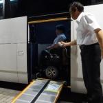 新型エアロエース エレベーター付きバスの視察報告