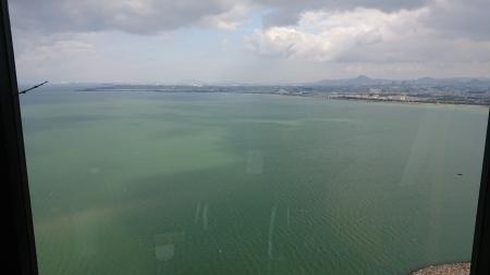 会場のすぐ隣の琵琶湖。琵琶湖は大きく迫力満点でした!
