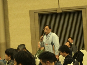 発言する西尾元秀DPI日本会議常任委員