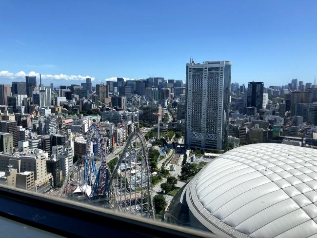 映画祭会場のスカイホールから東京の景色が一望できました